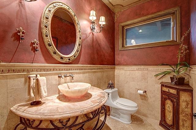 Beautiful powder room