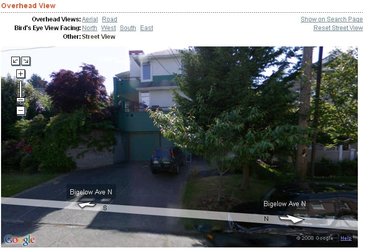 Seattle Street View at 1803 Bigelow Ave N