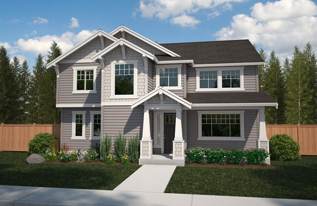Azure Northwest Homes at Tehaleh are available in a range of styles inspired by Craftsman and Northwest contemporary design.