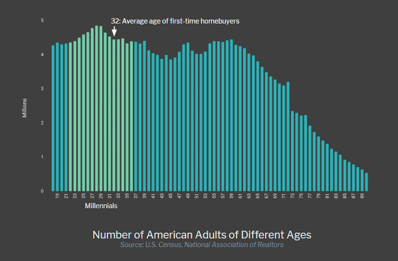 Number of Adults by Birth Year